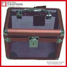 Red Aluminum Acrylic Cosmetic case