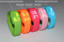 Hot selling silicone 16gb usb watch, led watch usb