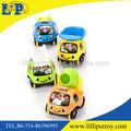 Bebê de brinquedo dos desenhos animados design puxar para trás do carro, caminhão de brinquedo para criança, não- tóxico e brinquedos para bebés