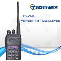 Td-v100 128channels vox scan digital dual-band two way radio