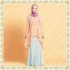Transend 16017 High-Grade Ethnic Clothing Summer Muslim Dresses Hari Raya