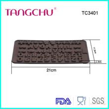 Carta de alta qualidade número forma mais novas ferramentas de bolo silicone molde de Chocolate