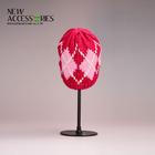 jacquard red knitted fashion beanie hat bulk