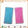 Fancy pink blingbling diamond rhinestone leather case for iphone 5, flip diamond leather case for iphone 5S