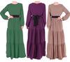 muslim fashion chiffon abaya Islamic clothing abaya wear modest clothing kaftan covered khaleeji