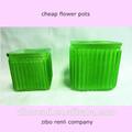 pianta quadrata titolare nursey verde antico filettato decorativi vasi di fiori a buon mercato