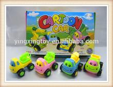 lovely mini cartoon friction engineering van ,friction truck set toy