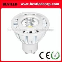 New LED COB GU10 bulb lights replace parts of a halogen spotlight
