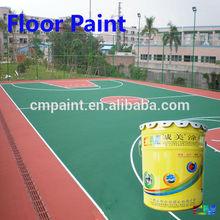 Floor paint- School basketball court antislip waterproof weather proof pu durable uv proof floor coating