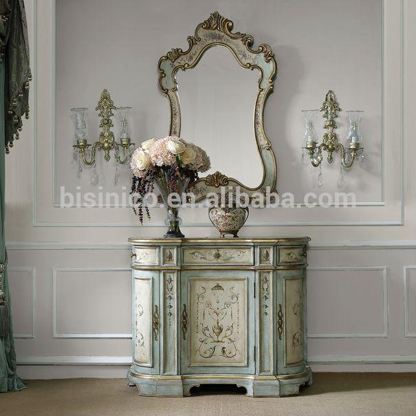 Wohnzimmermobel Vintage : Jahrgang handbemalten konsole mit spiegel zuhause dekorative holz