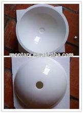white crystal glass wash basin