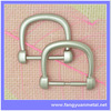 Metal side release buckle, small metal bag shoe loops