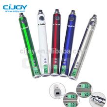 1300mah 3-6v /5-15w LCD ego v v3 vape pen with ohm meter,Green vaper ego-v4 mega battery