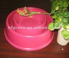 Eco biodegradable natural bamboo fiber dog pet pot/pet bowl