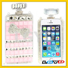 Perfume Bottle Style Bowknot Jelly Diamond Encrusted Crystal phone Case with Lanyards for iPhone 5 & 5S (Pink)