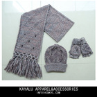 knitted winter scarf hat set