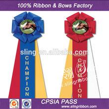 Wholesale Custom Ribbon Rosette For Horse Show Award Horse Rosette