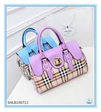 New Plaid design women shoulder bag for promotion tote bag
