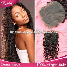 crochet headband with button closure silk invisible part closure malaysian virgin hair