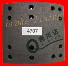 mack truck brake lining 4707 with 100% asbesto free