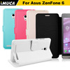 wholesale IMUCA leather phone case for asus zenfone 6 leather flip case cover