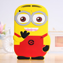For Ipad mini Despicable Me Minion 3D Soft Silicone Protective Case