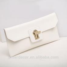 classic design women clutch genuine leather bags