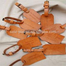 2014 Customized logo wholesale leather luggage tag