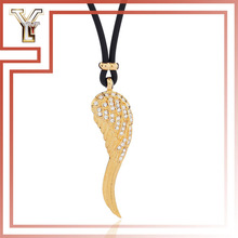 Leather Rope With Angel Wing Boy and Girl Couple Necklace