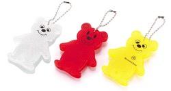 Promotion Plastic Mini Bear Reflective Keychain