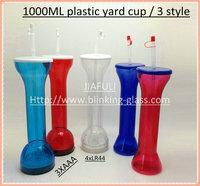 LED Flashing Plastic Beer Cup Yard 1000ML