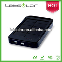 2014 high efficiency solove 8000mah power bank solar charger Li-ion battery LET37H
