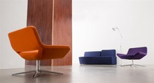 2014 modern foshan plastic chair barcelona style lounge chair ottoman