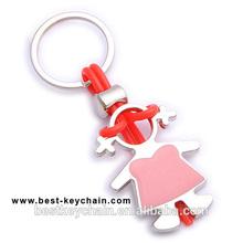 hot sales new custom child metal cartoon girl key chain (BBK10798)