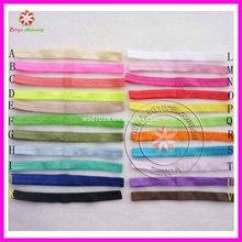 """High quality custom fold over 5/8"""" plain elastic hair band headband"""