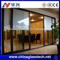 Ce& iso comercial transparente divisória do escritório vidro temperado porta de vidro deslizante do sistema