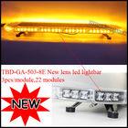White Amber Car Emergency Traffic Advisor Flash Strobe Warning 66 LED Light Bar