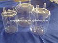 fuente de la botella de vidrio de cuarzo material de laboratorio para la industria química o de campo