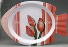 F250 Melamine fish shape design dinner plates 250G