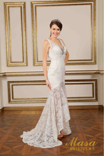 Cheapest elegant sash bow lace wedding dress ladies chinese famous brand masa bridal sample pictures robe de mariage