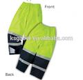 amarillo fluorescente pantalones de seguridad sin costura con cinta
