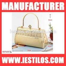 Noble luxurious woman leather handbag summer crystal evening large bag 1481