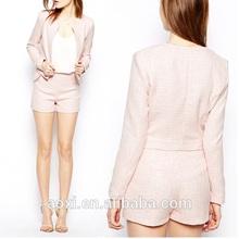OEM wholesale Custom-made alibaba short long sleeve suit jackets pink lovely girl graceful elegant wear fast delivery mini MOQ