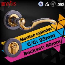 Poignée de porte broche 50 mm simple loquet lockcase vrai or galvanoplastie