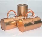 round decorative olive oil tin box, round tin can