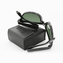 Eyewear Leather Bag For Folding Sunglasses