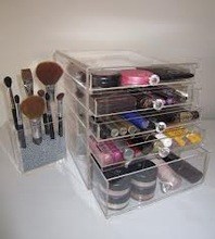 wholesale clear acrylic makeup organizers with drawers