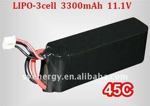 rc helis/airplane 11.1v 3300mAh 45c lipo battery-Factory price, lipo battery for rc model