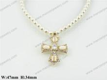 Korean version show zebra print necklace