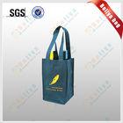 bottle pocket tote bagspromotional jute wine bag/wine bag for promotional